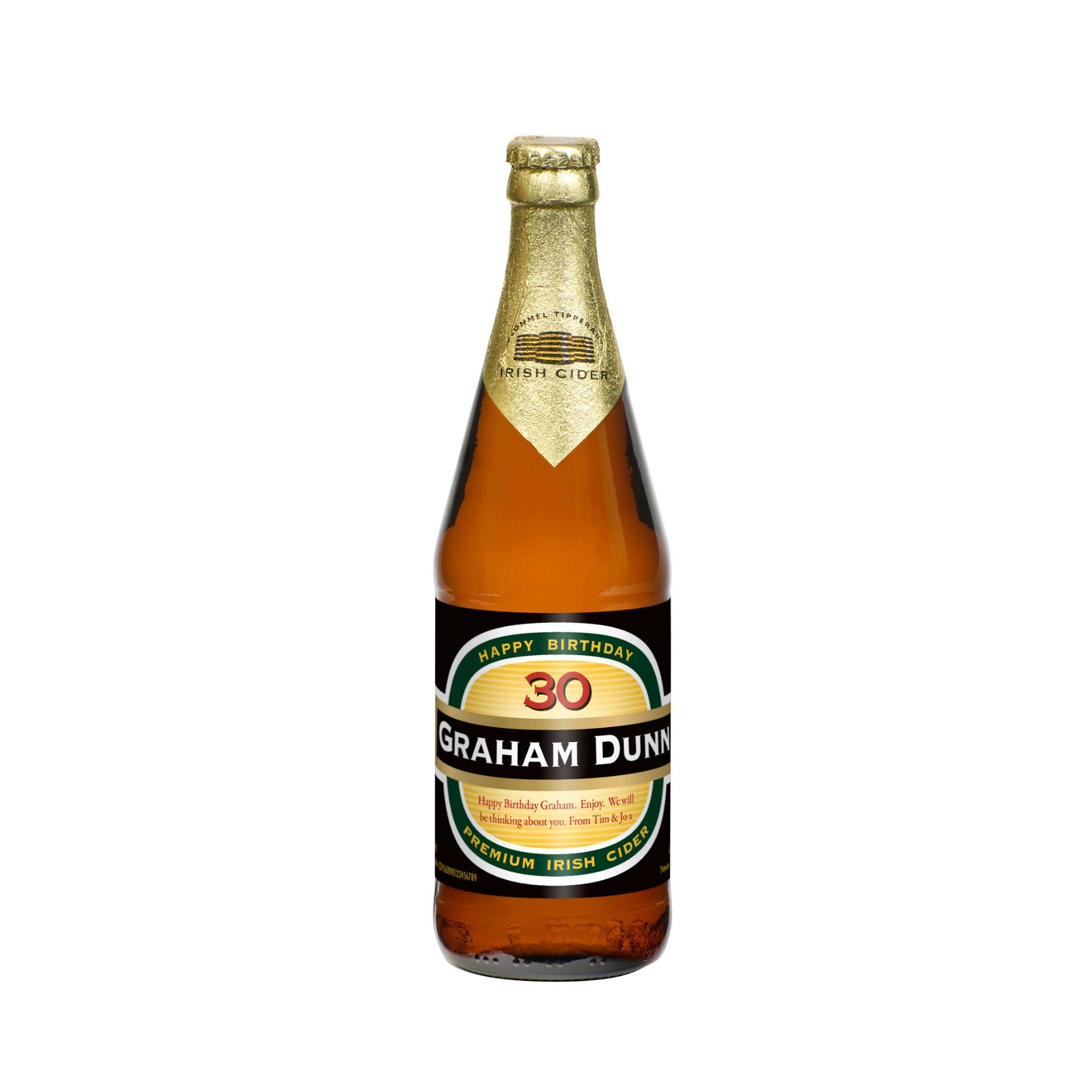 Personalised Birthday Cider, Cider by Gifts24-7