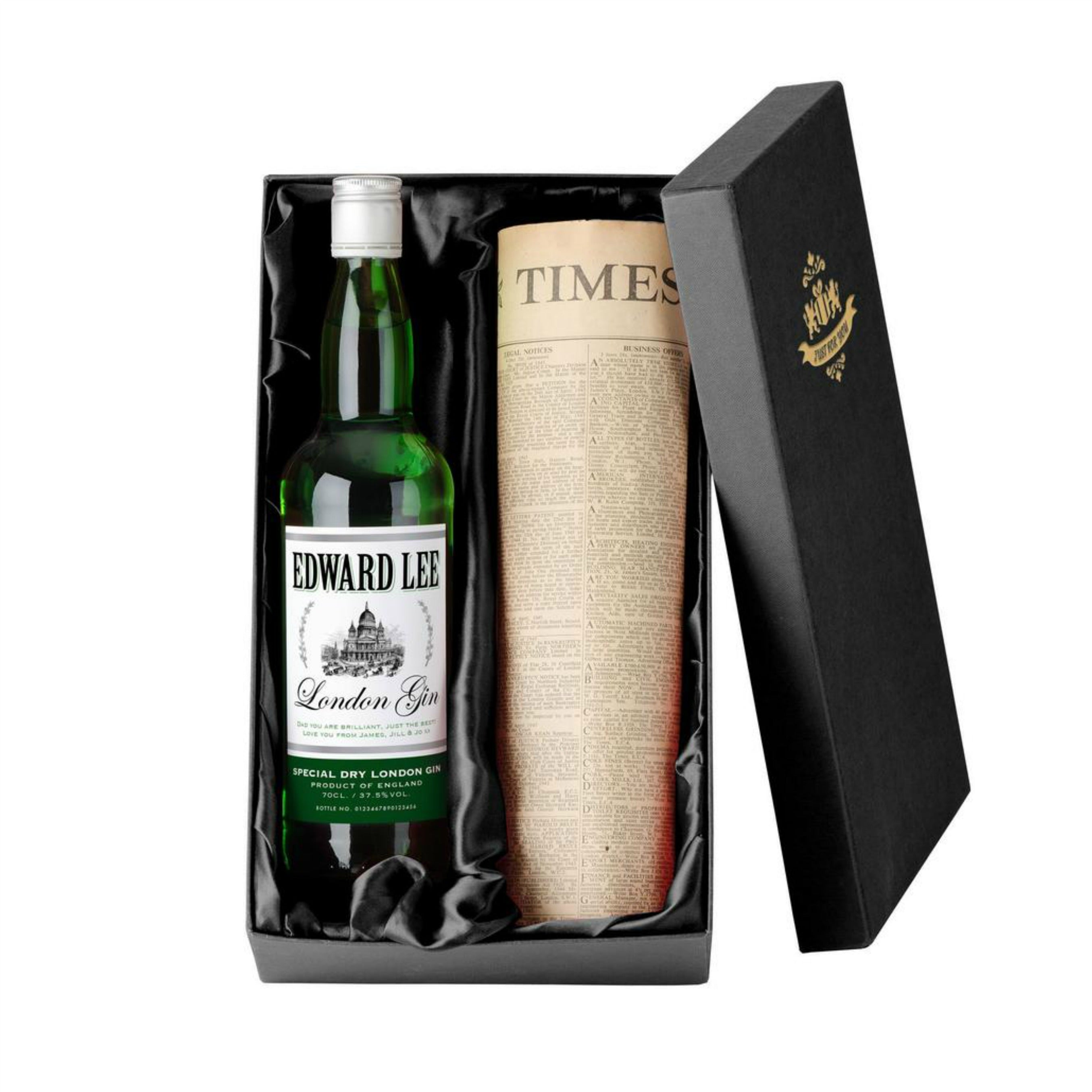 Personalised Gin with Newspaper Giftpack, Alcoholic Beverages by Low Cost Gifts