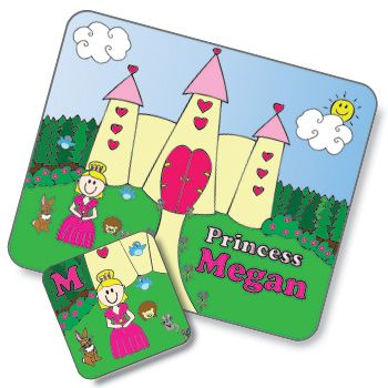 Princess Design Placemat and Coaster Set