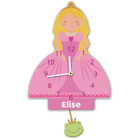 Personalised Princess Wall Clock - Shane Todd Gifts UK