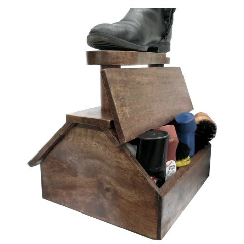 Shoe Shine Freestanding Cabinet, Furniture by Low Cost Gifts