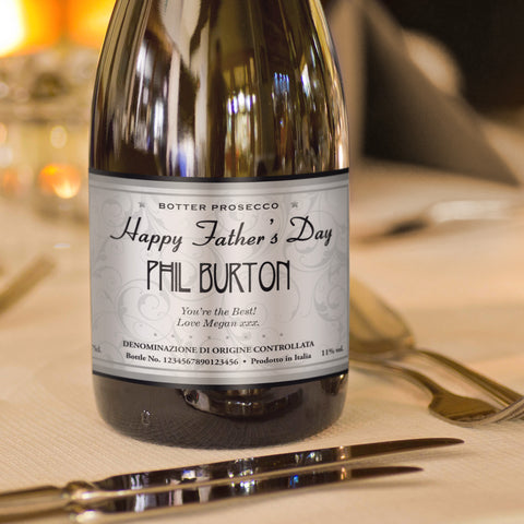 Personalised Elegant Father's Day Prosecco
