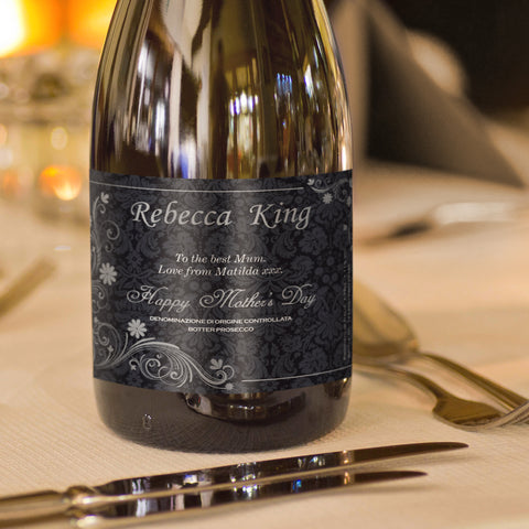 Personalised Ornate Mother's Day Prosecco