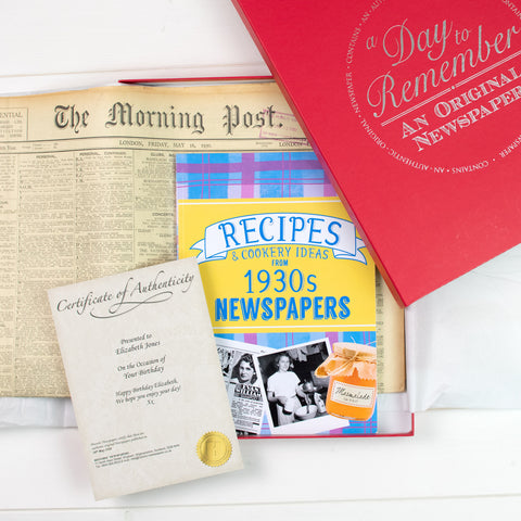 Original Newspaper and Recipe Book