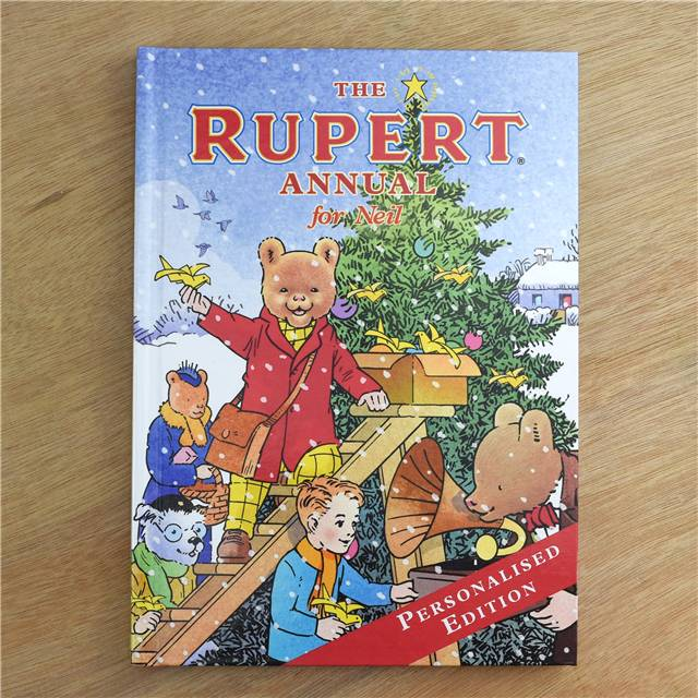 Personalised The Rupert Annual, Media by Low Cost Gifts