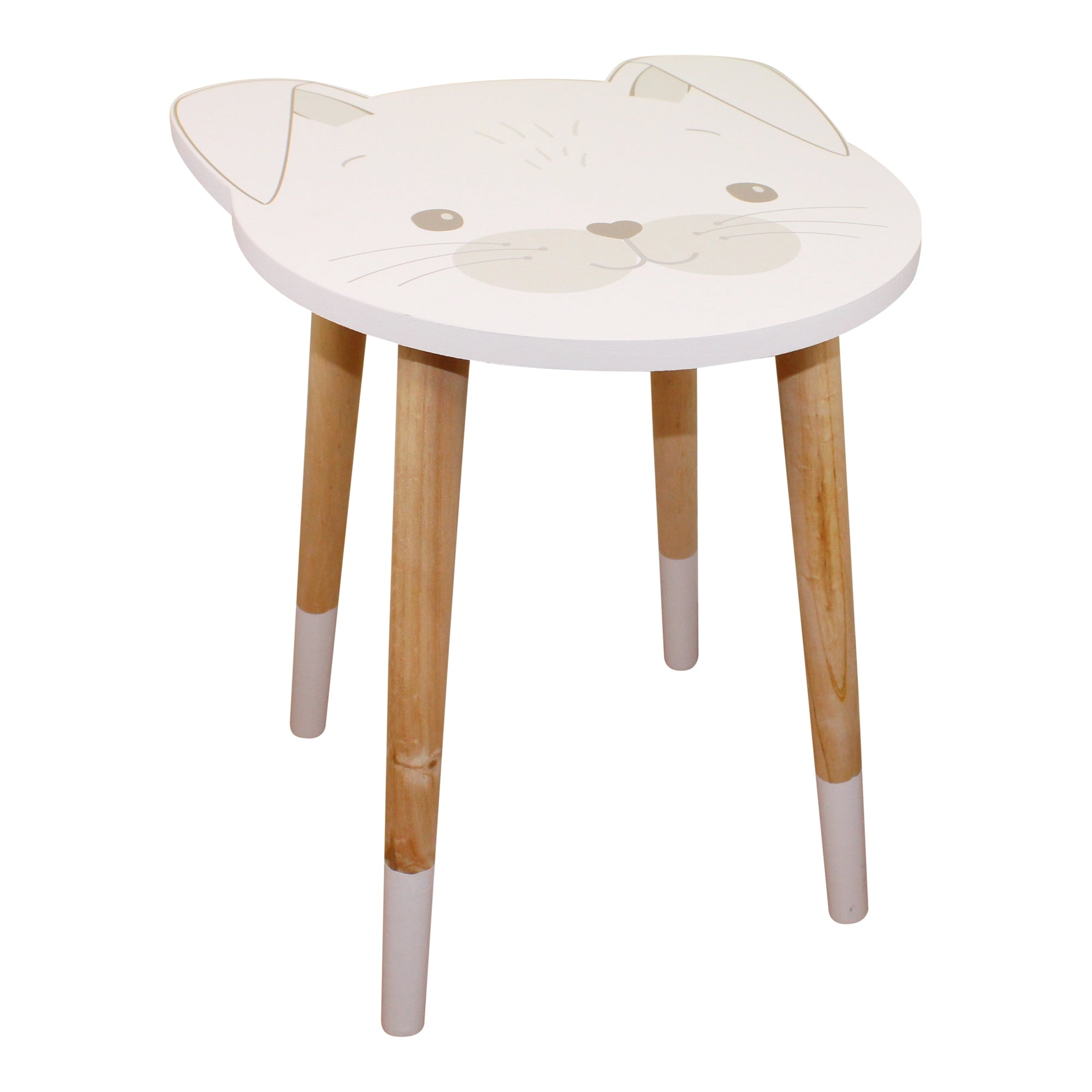 Baby Bear Wooden Side Table, Rabbit Design, Furniture by Low Cost Gifts