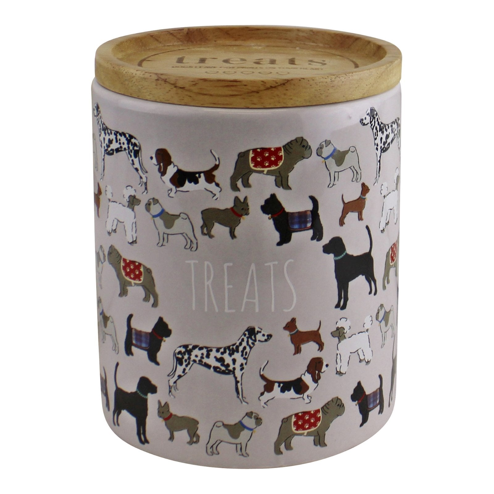 Ceramic Dog Treat Jar With Lid, Pet Food Containers by Low Cost Gifts