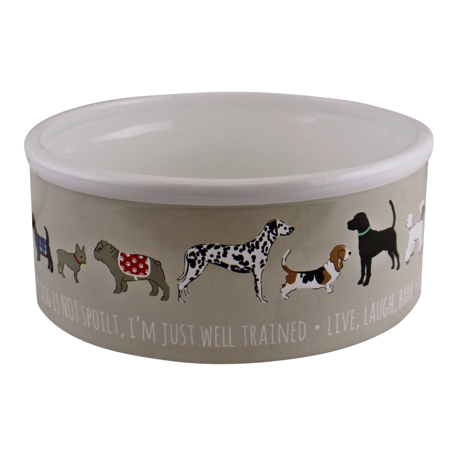 Large Ceramic Dog Bowl, 20cm, Pet Bowls, Feeders & Waterers by Low Cost Gifts