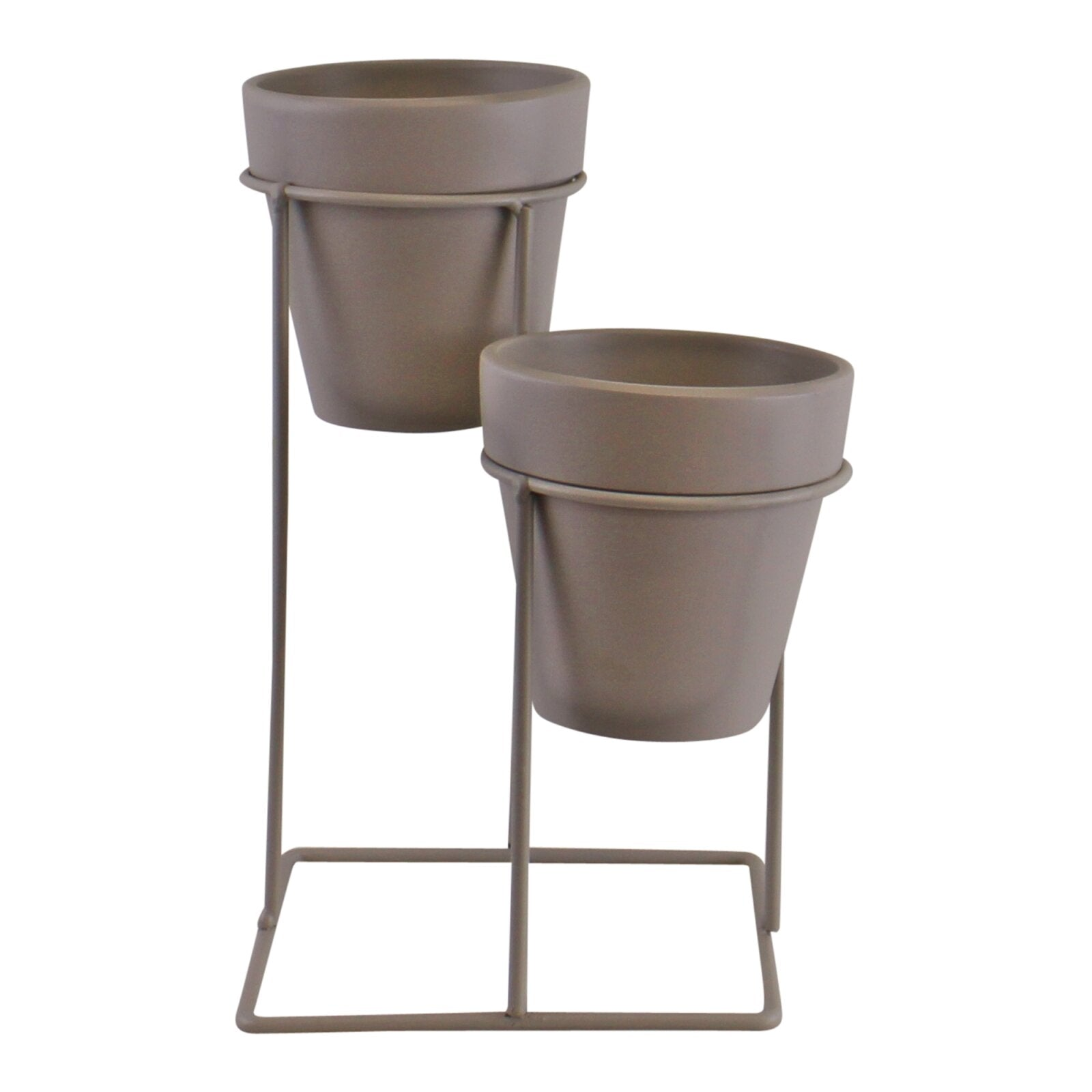 Potting Shed Small Double Planter On Stand, Grey, Lawn & Garden by Low Cost Gifts