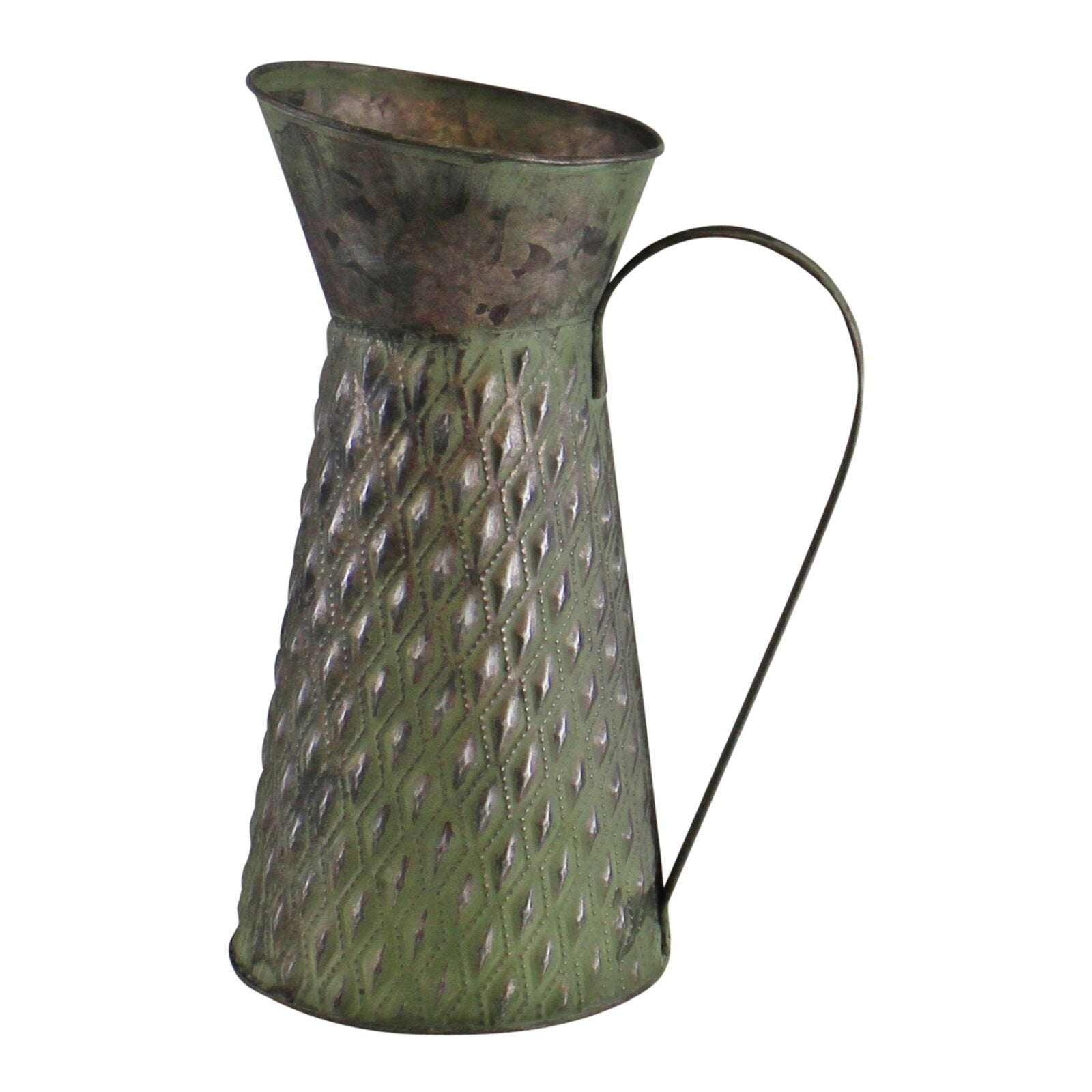 Zinc Jug Planter In Green, Lawn & Garden by Low Cost Gifts