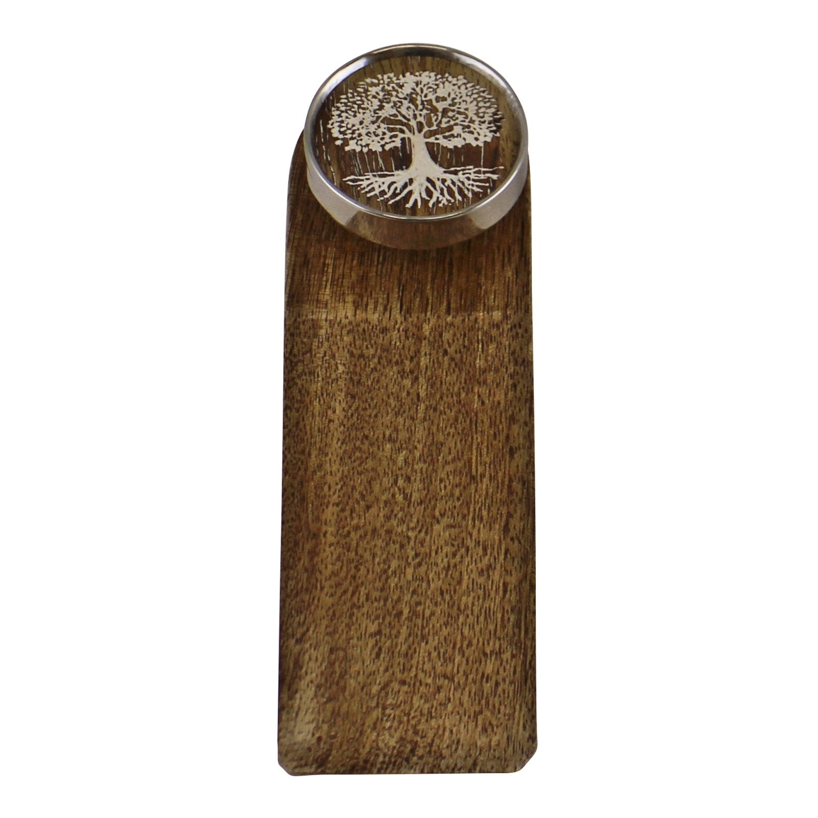 Decorative Wooden Doorstop, Tree Of Life Silver Design, Building Materials by Gifts24-7