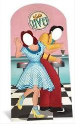 1950's Jazz Dancers Stand-In Cardboard Cutout- 195cm | ShaneToddGifts.co.uk