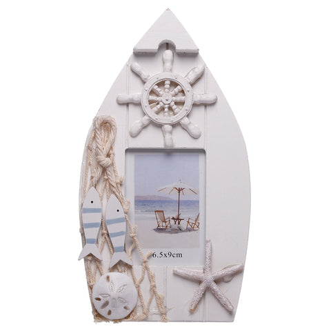 Boat Shaped Nautical Photo Frame