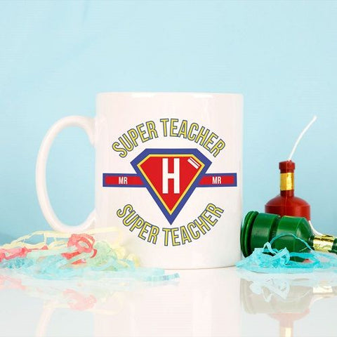 Personalised Super Hero Teacher Mug