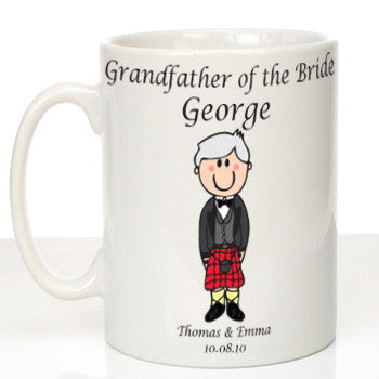 Personalised Mug for Grandfather of the Bride: Scottish