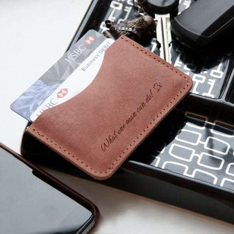 Tan Leather Single Pocket Wallet | ShaneToddGifts.co.uk