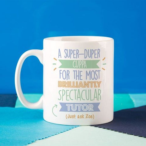 Personalised Best Tutor (Male)...Just Ask Mug
