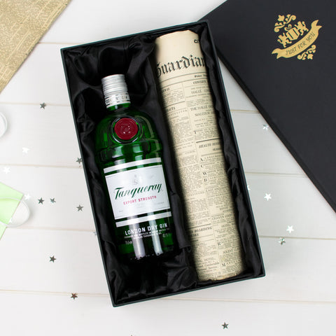 Tanqueray Gin and Original Newspaper Gift Set