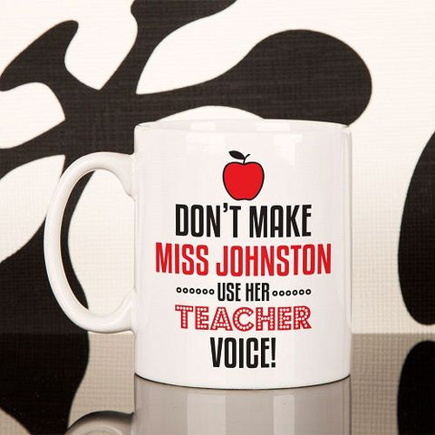 Personalised Teacher Voice Novelty Mug