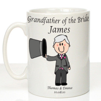 Personalised Mug for Grandfather of the Bride: Traditional