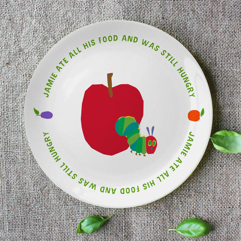 "Very Hungry Caterpillar Still Hungry 8"" Bone China Plate"