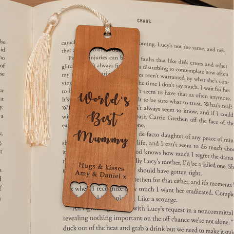 Personalised Wooden Bookmark - Worlds Best