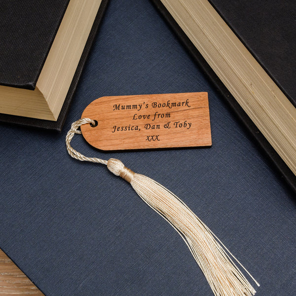 Personalised Wooden Bookmark - Your Message