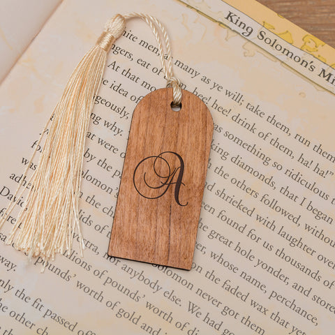 Personalised Wooden Bookmark - Initial