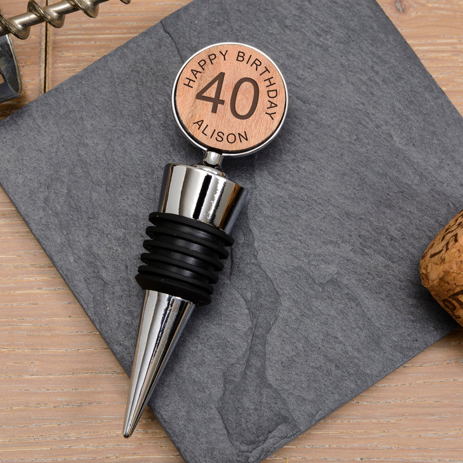 Personalised Bottle Stopper - Age