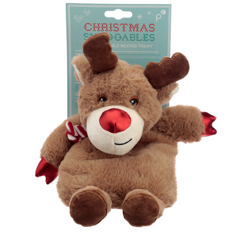 Christmas Reindeer Microwavable Heat Wheat Pack, Gift Giving by Low Cost Gifts