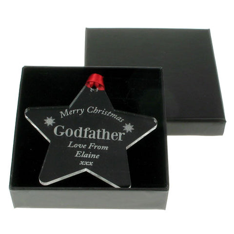 Personalised Godfather Christmas Star