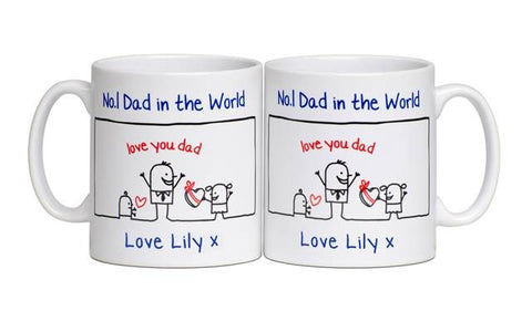 Personalised Father's Day No. 1 Dad Mug