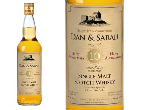 Anniversary Personalised Single Malt Whisky
