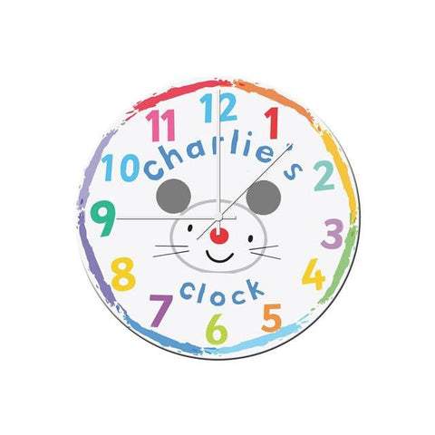 buy Arty Mouse Face Glass Clock