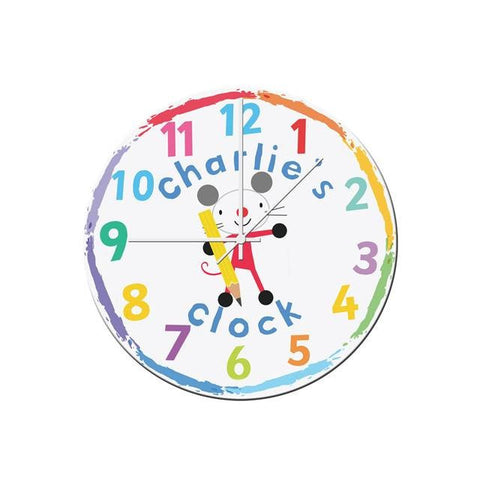 buy Arty Mouse Glass Clock