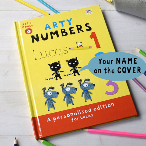 Arty Mouse Numbers - Hardback - Shane Todd Gifts UK