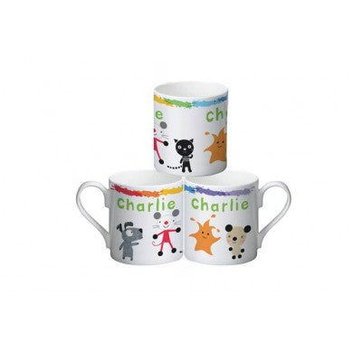 Arty Mouse Scatter Simple Character Mug - Shane Todd Gifts UK