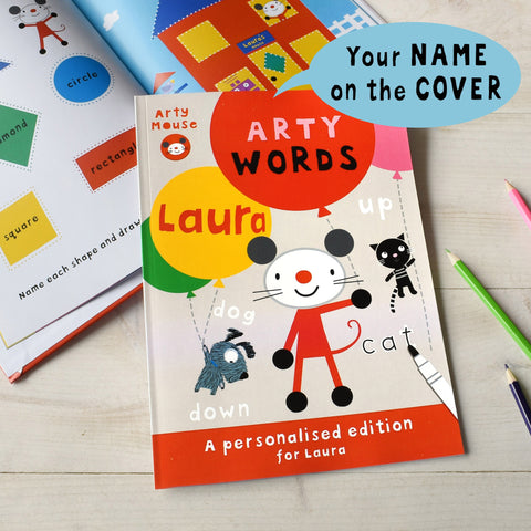 Arty Mouse Words - Hardback - Shane Todd Gifts UK