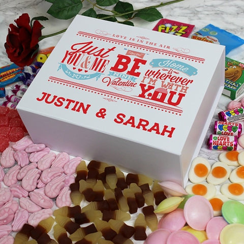 Be My Valentine Deluxe Sweet Box - White