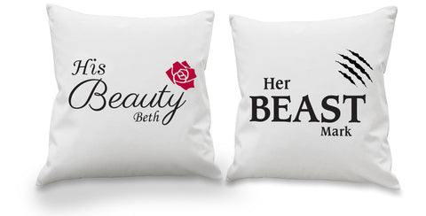 Her Beast & His Beauty Cushion Cover Set - Shane Todd Gifts UK