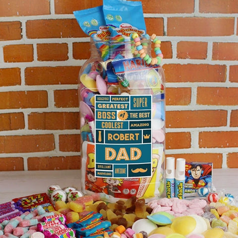 Our largest sweet jar, for a Dad with a really sweet tooth.