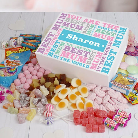 Best Mum - Deluxe Sweet Box - White
