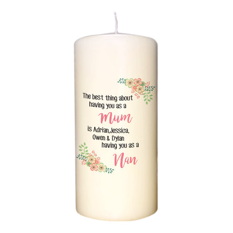 The Best Thing Pillar Candle | ShaneToddGifts.co.uk