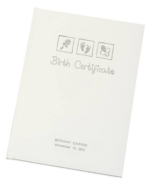 Birth Certificate Embossed Presentation Holder - Shane Todd Gifts UK