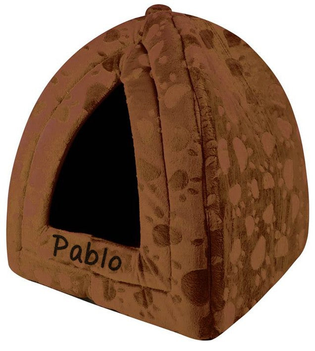 Personalised Brown Pyramid Pet Bed, Pet Bed Accessories by Low Cost Gifts