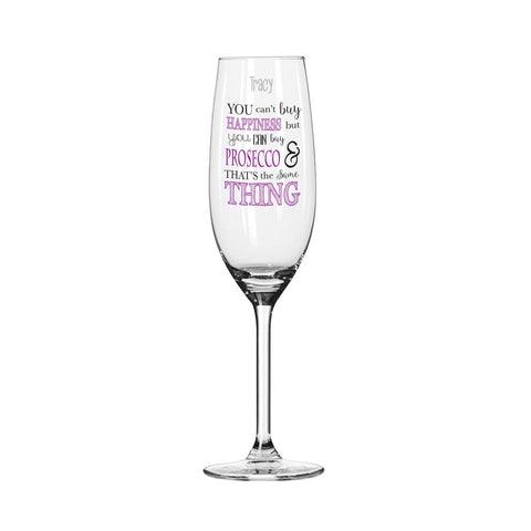 Can't Buy Happiness...Prosecco Glass - Shane Todd Gifts UK