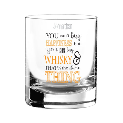Personalised Can't Buy Happiness...Whisky Tumbler
