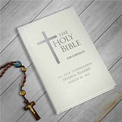 Catholic Bible - Ivory Cover | Gifts24-7.co.uk