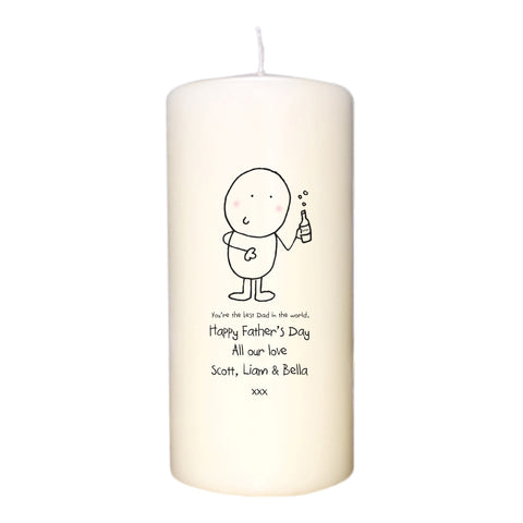 Personalised Chilli & Bubbles Best Dad Candle
