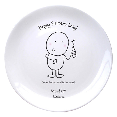 Personalised Chilli & Bubbles Best Dad Plate